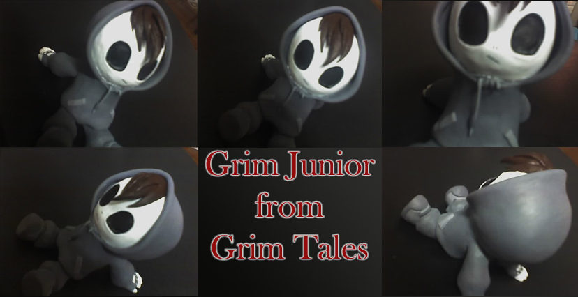 Grim Jr Sculpture - fanart by apple-pai