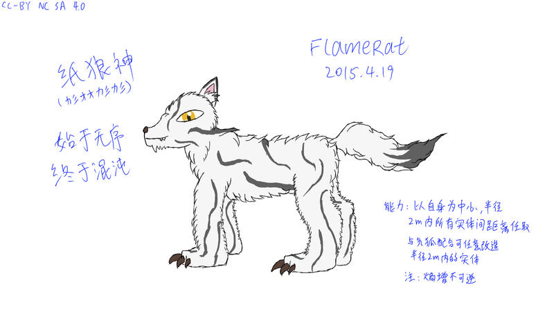 God paper wolf (original wolf character) by FlameRat-YehLon