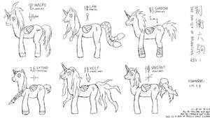(Pony OC) The Pon-six of Balancing (Rev1) by FlameRat-YehLon