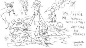My Little Random Bad Drawing by FlameRat-YehLon