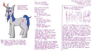 (Random pony #2) Char Flare by FlameRat-YehLon
