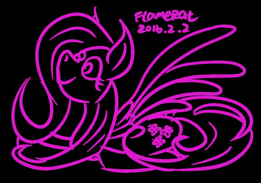 Fluttershy Quick Sketch by FlameRat-YehLon