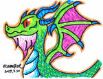 Random Dragon Done With Cheap Color Marker