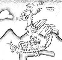 Maybe A Monster Bird by FlameRat-YehLon