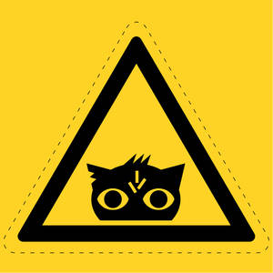Nightmare Eye Hazard Sign