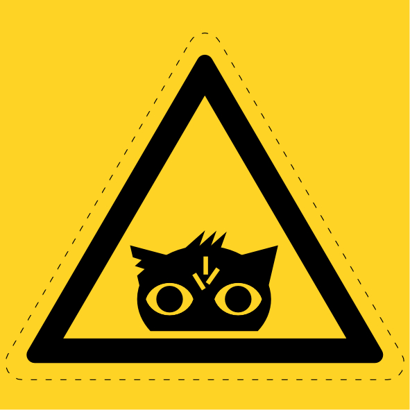 Nightmare Eye Hazard Sign by FlameRat-YehLon