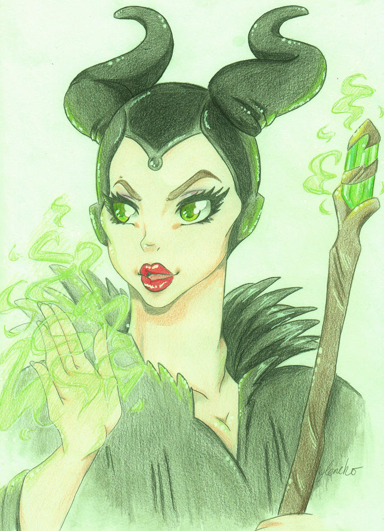 Maleficent by leneko
