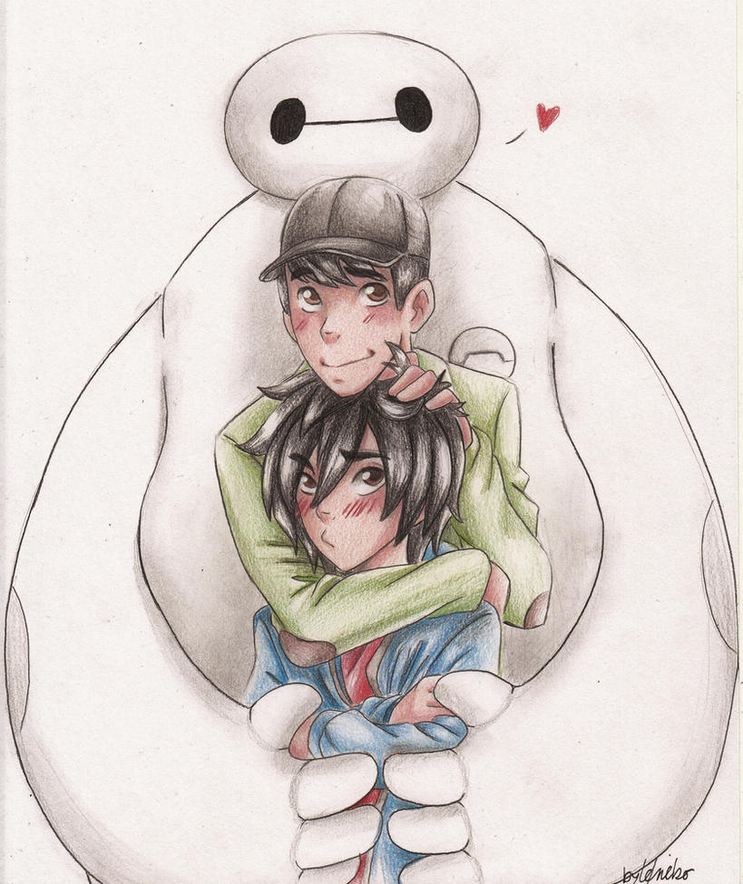 Baymax x Tadashi x Hiro by leneko