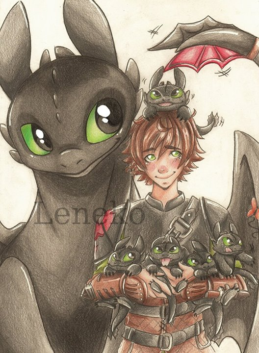 Toothless Babys by leneko