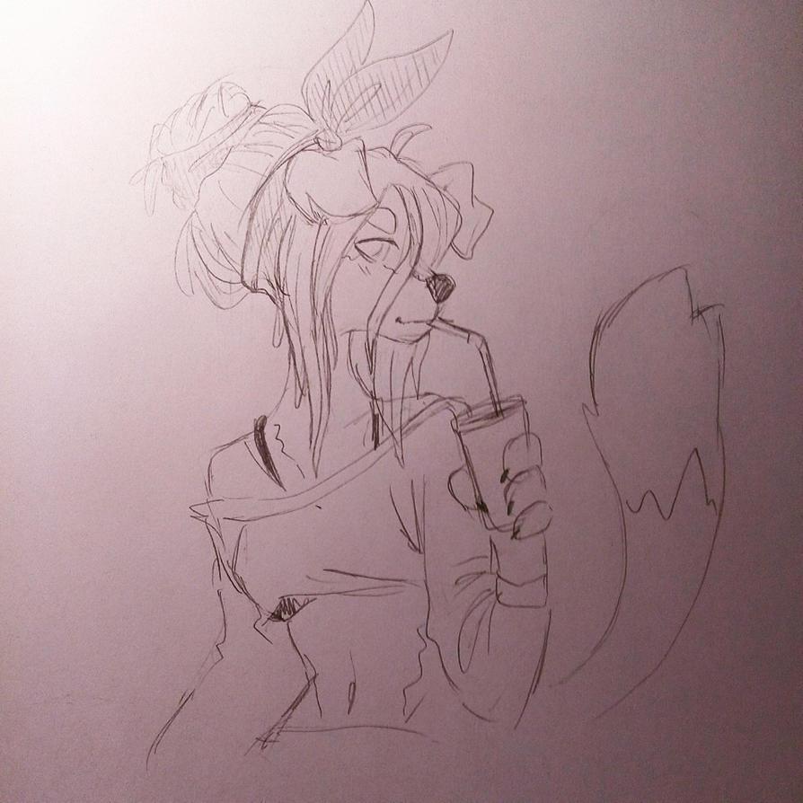 Gwen Sketch by leneko