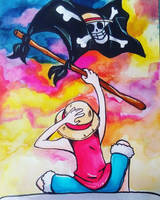 Luffys Flag by Viodino