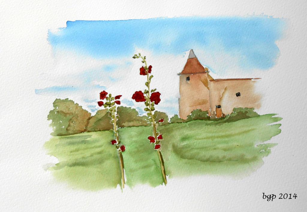 chateau aux roses tremieres by manette64 on deviantart. Black Bedroom Furniture Sets. Home Design Ideas