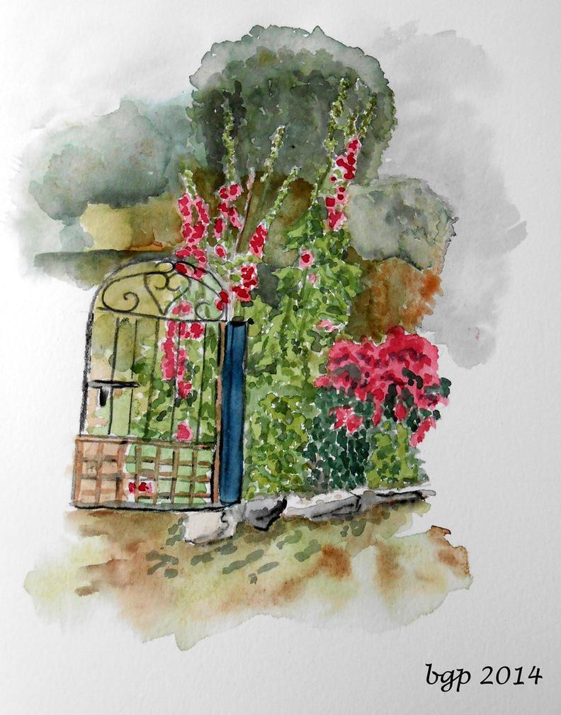 le jardin aux roses tremieres by manette64 on deviantart. Black Bedroom Furniture Sets. Home Design Ideas