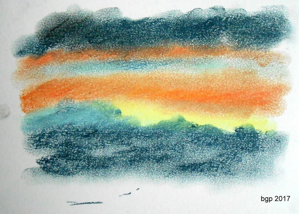 Coucher de soleil sur les montagnes by manette64