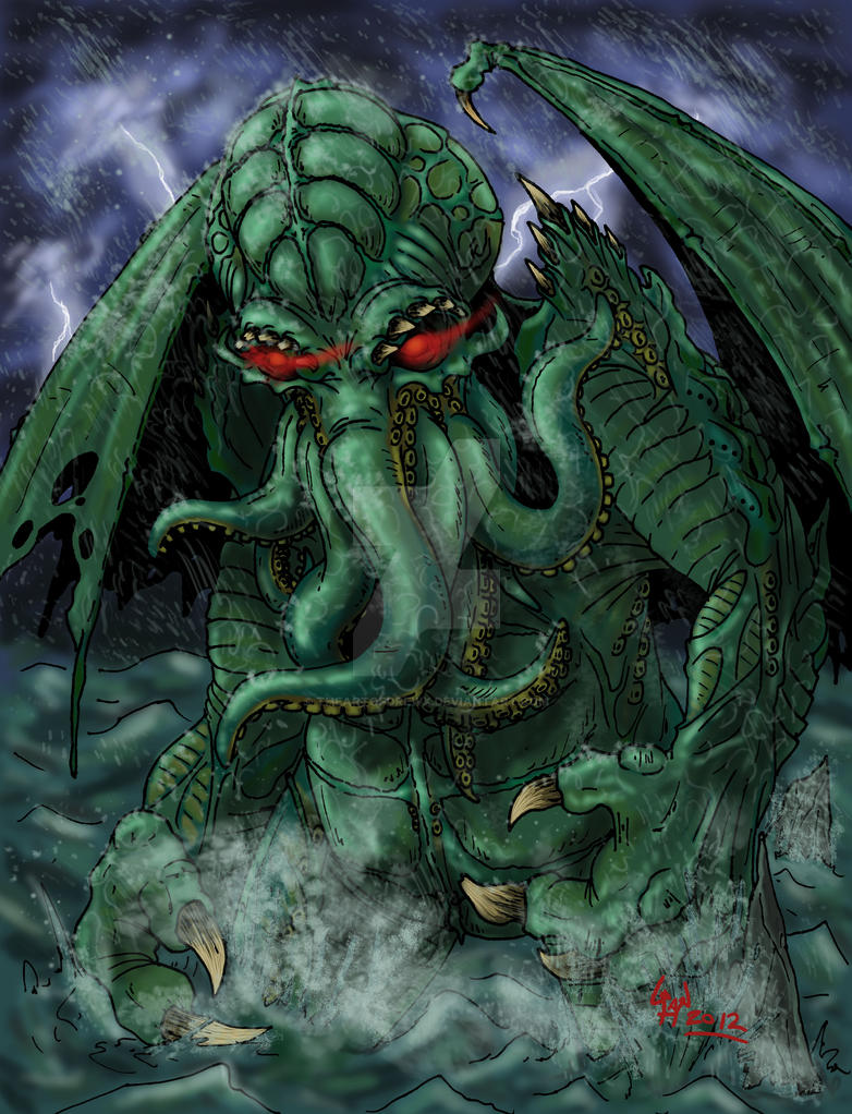 Cthulhu rises by theartofdrewx