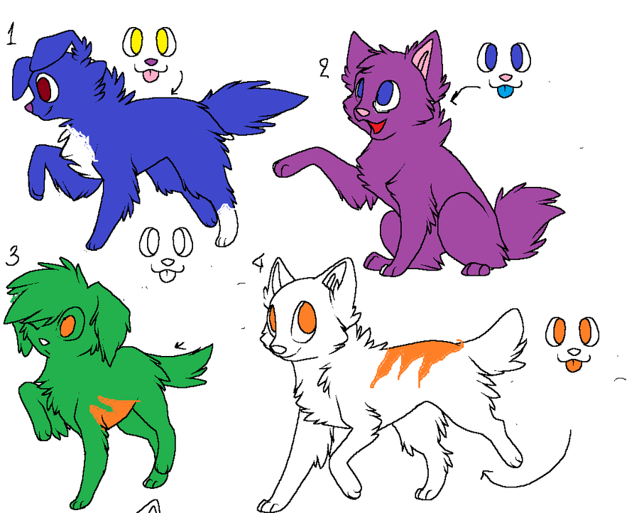 Free Feline (i think) Adopts by FlyingCookiez