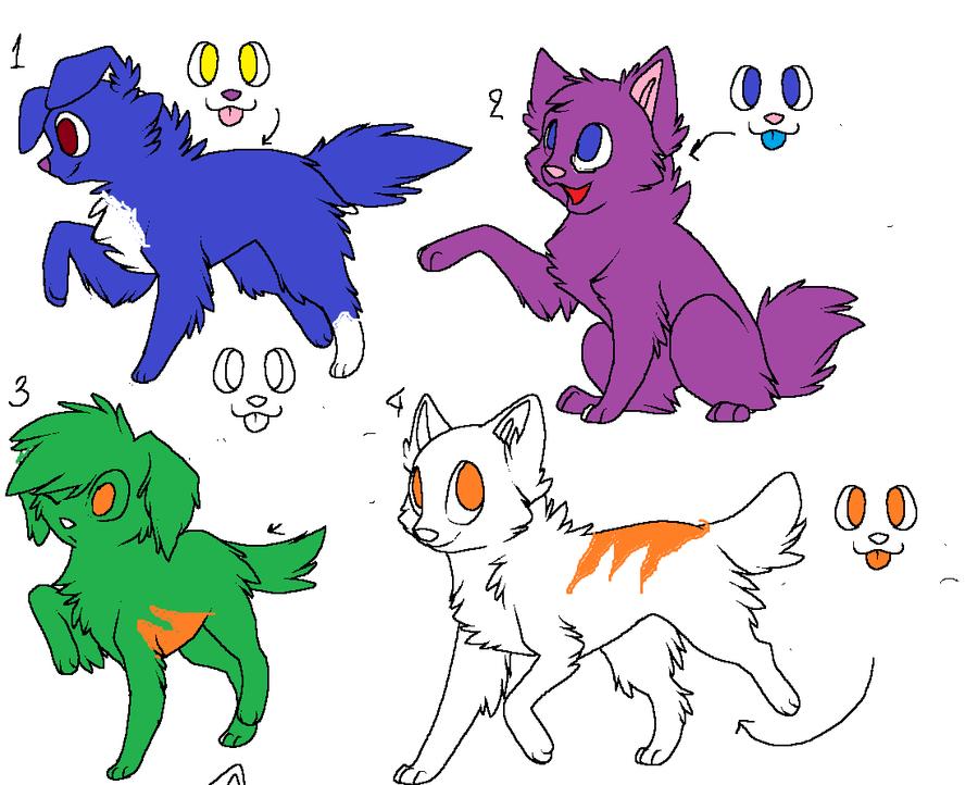 Free Feline (i think) Adopts by FlyingCookiez
