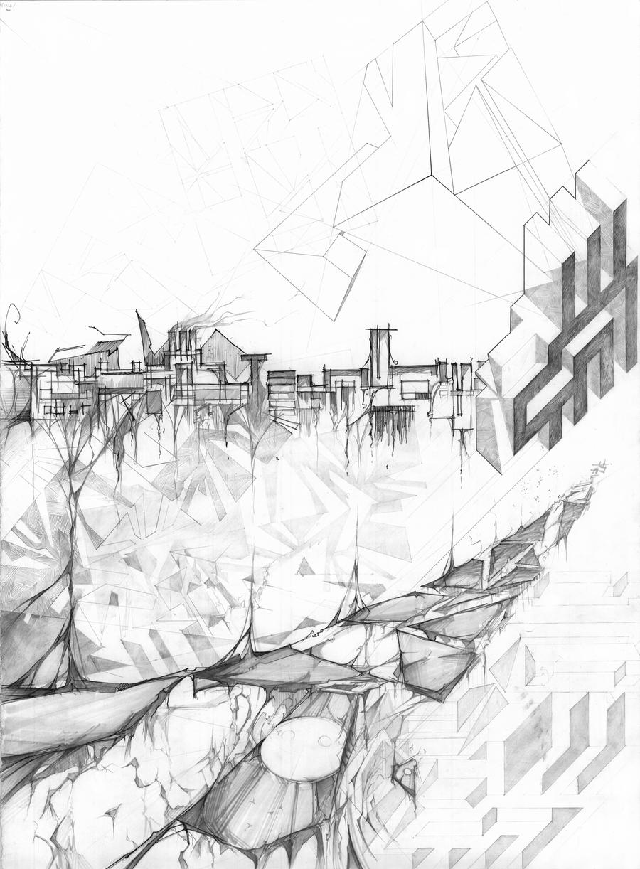 Architecture Compositional Drawing 01 by RoboNATION