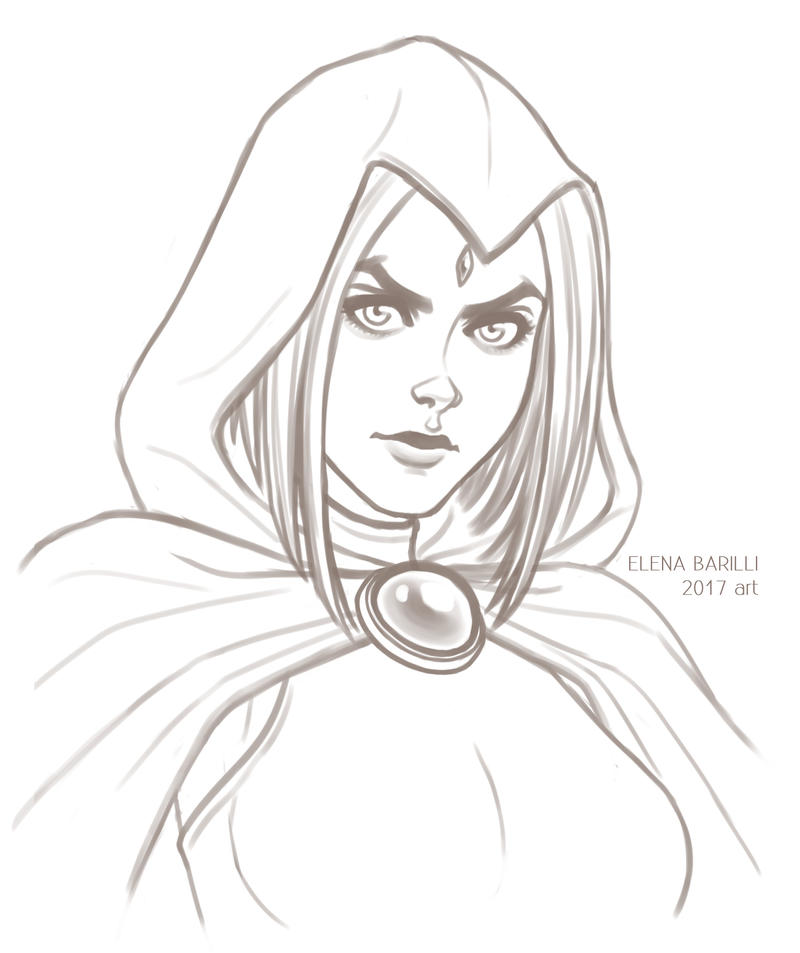 Raven SKETCH by Elena-Barilli