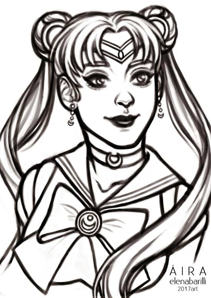 Sailor Moon SKETCH 2 by Elena-Barilli