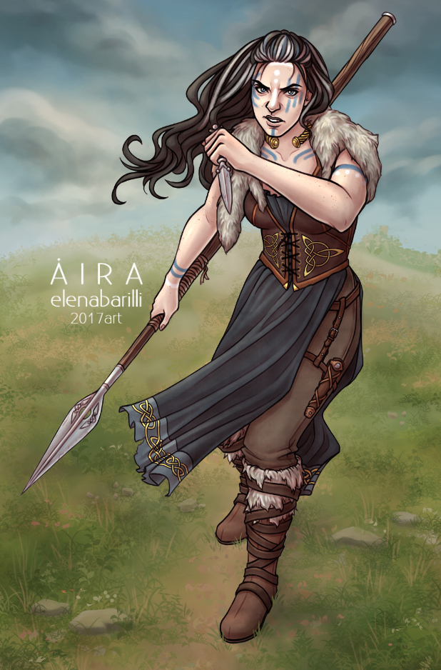Niamh for Verrix (board game) by Elena-Barilli