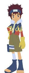 Davis Motomiya (Naruto-style ninja) by SuperpanArts