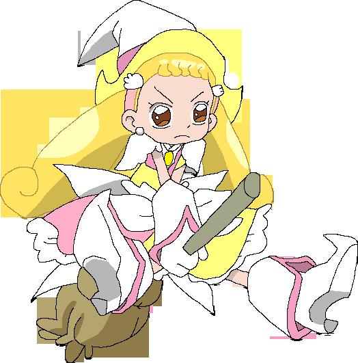 Royal Patraine Hana-chan on her broomstick