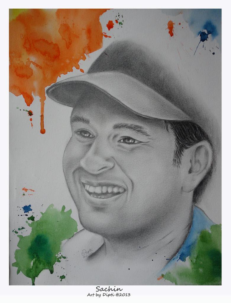 A Tribute to God of Cricket Sachin Tendulkar by DiptiArt