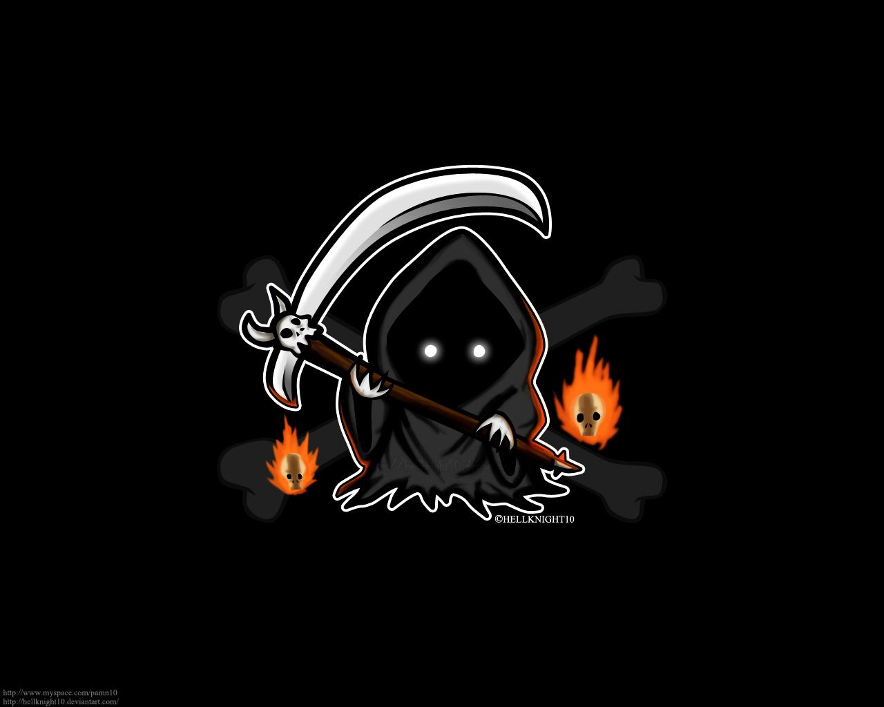 Little Grim Reaper Wallpaper
