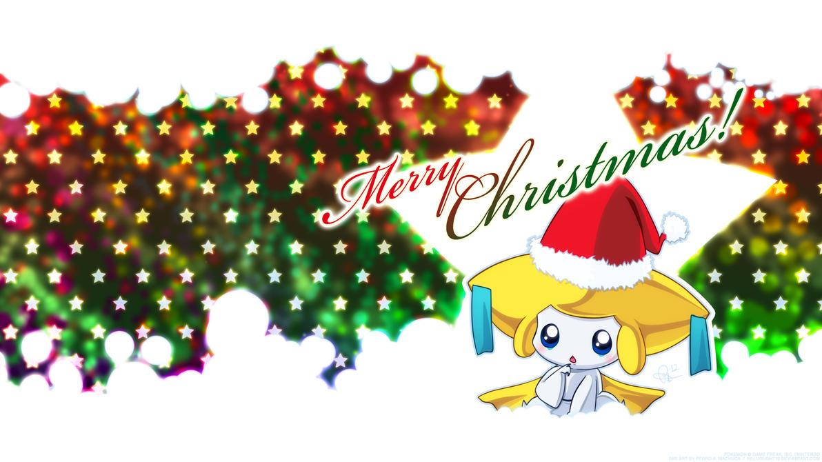 Christmas Jirachi Wallpaper by Hellknight10