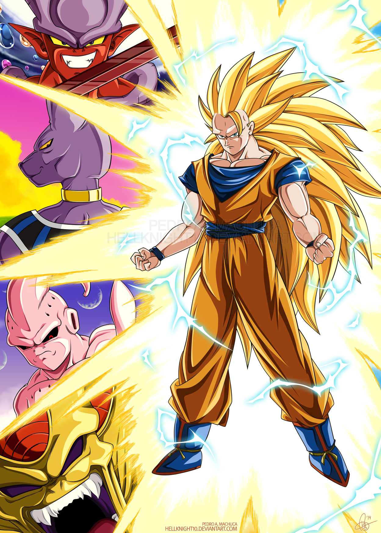 Super saiyan 3 goku 39 s foes by hellknight10 on deviantart - Super sayen 10 ...