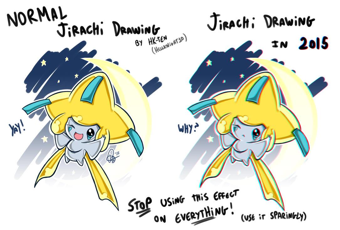 Jirachi Drawing in 2015 by Hellknight10