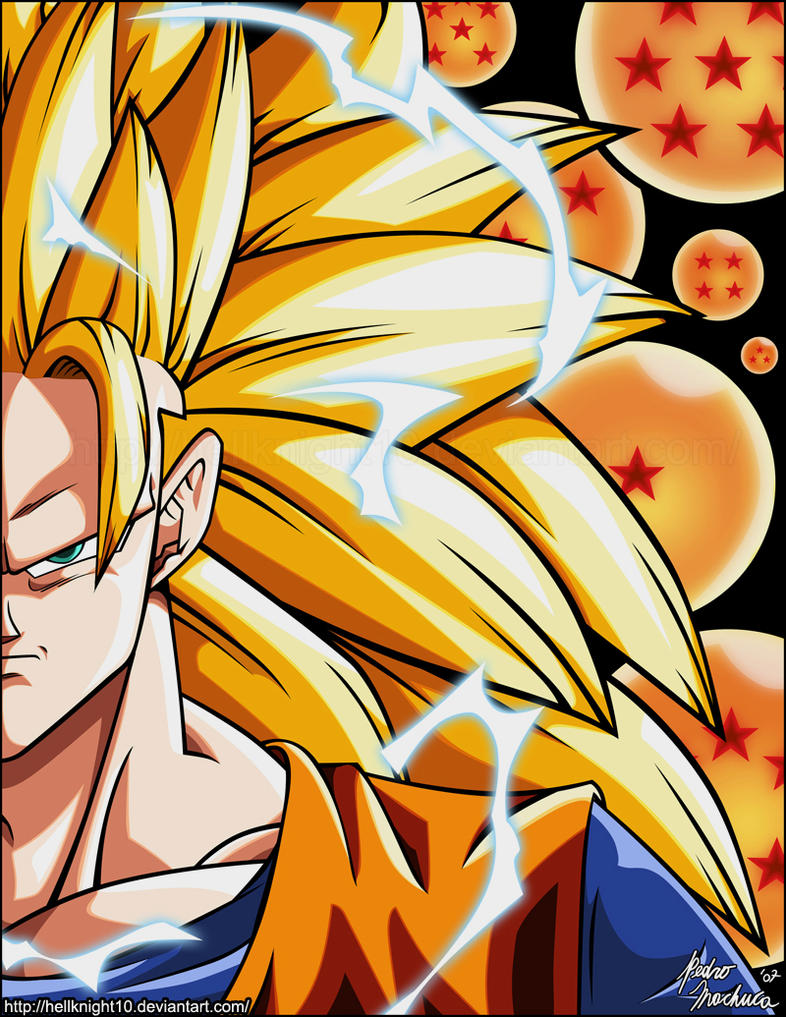 Super Saiyan 3 Goku By Dragon Ball Z Vs Vegeta