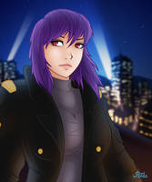 Commission - Motoko by Leadpanda