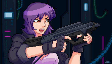 Commission - Pixel Motoko by Leadpanda