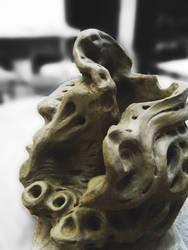 Ceramic portrait by Lotsmanov