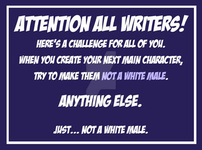 WriterChallengeWhiteMale by SWING-21