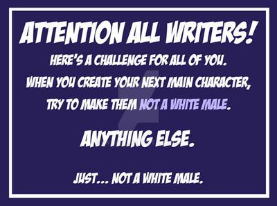 WriterChallengeWhiteMale by SWING-21