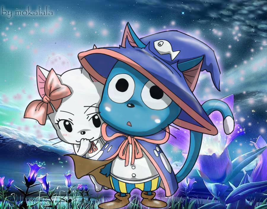 Happy and carla fairy tail by mokalala