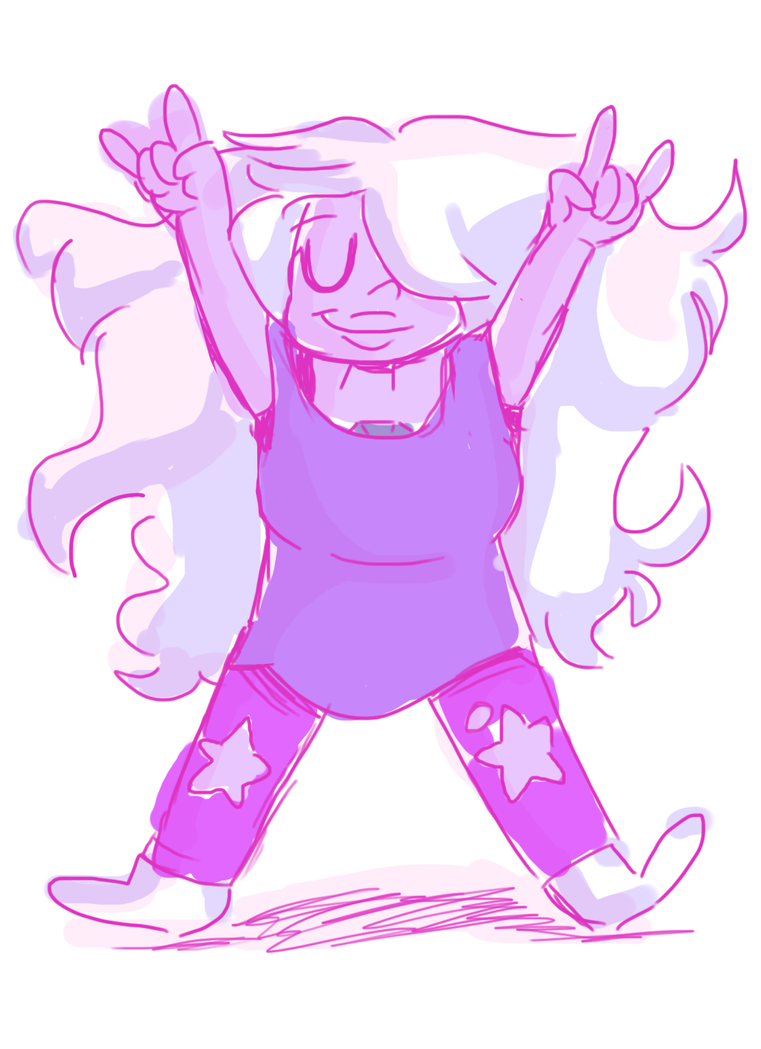 ive never drawn amethyst before : x