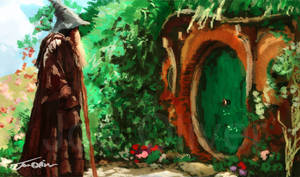 Gandalf Visits Bag End