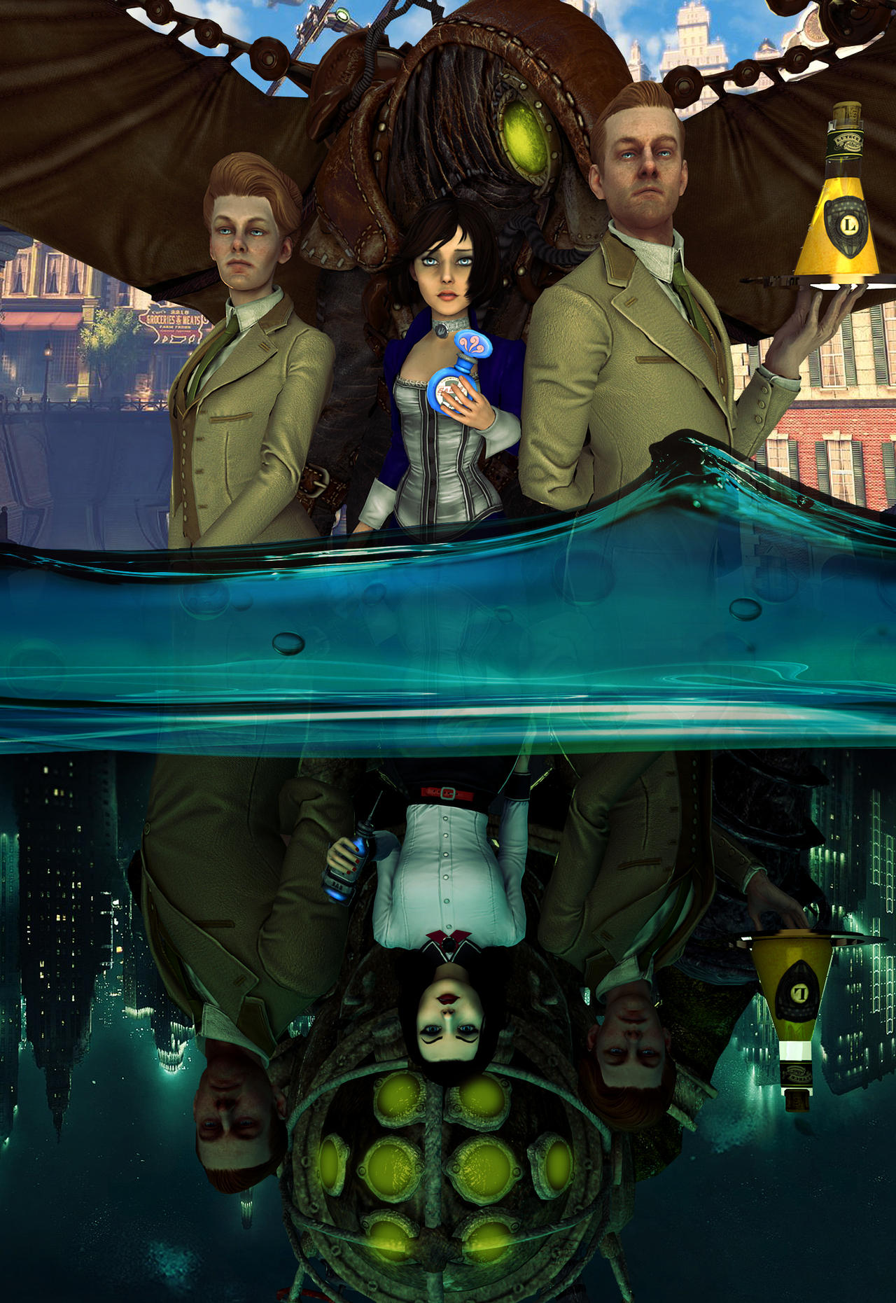 Bioshock Infinite by Brusya