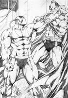 Batman VS Bane by leonartgondim