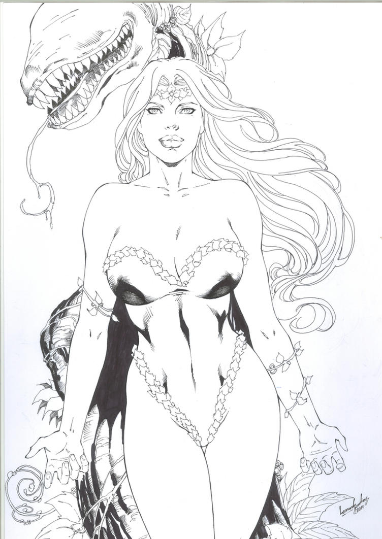 Poison Ivy-ink by leonartgondim