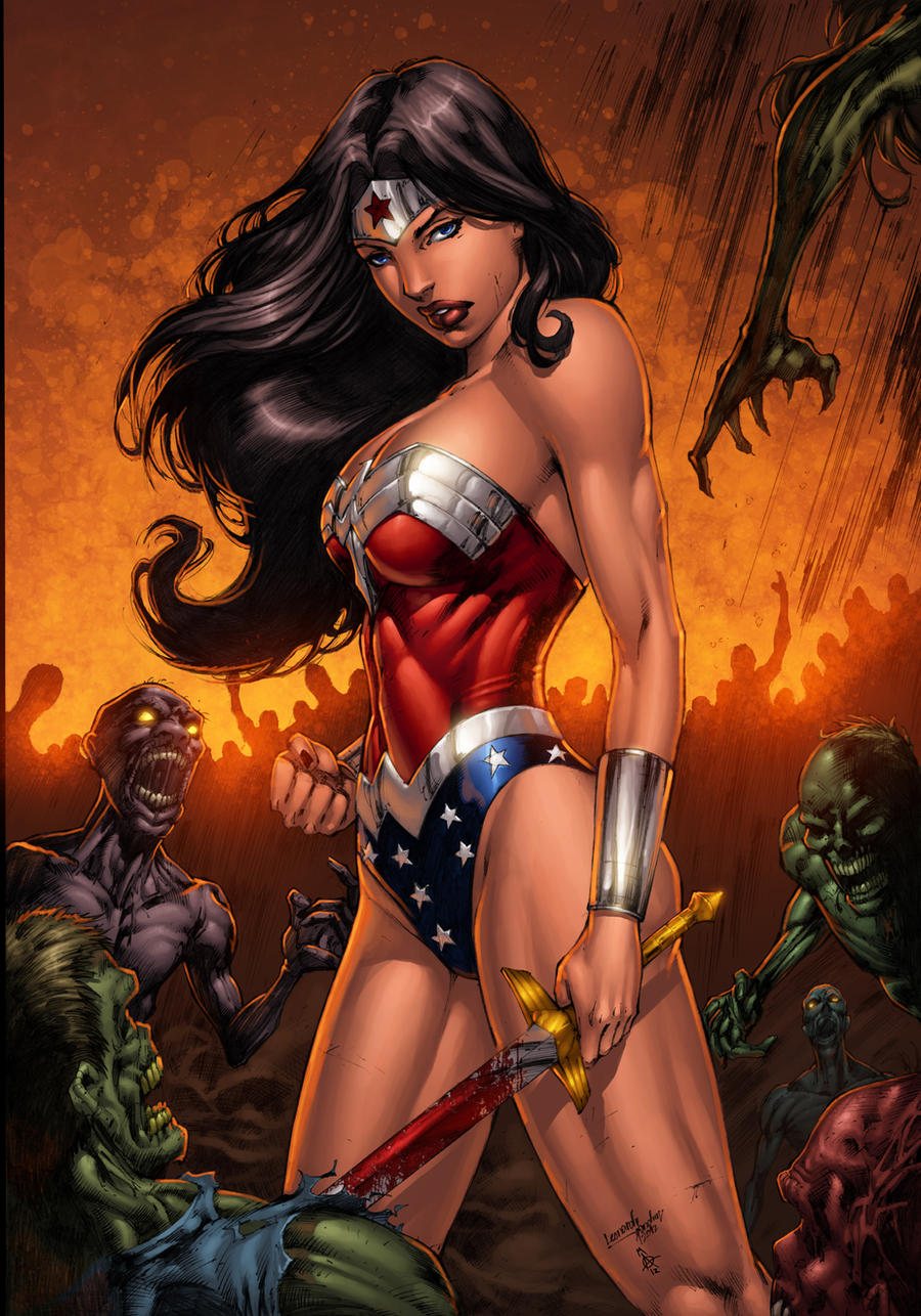 Wonder Woman vs the Undead Color by leonartgondim