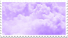 (f2u) lavender clouds by sinnamonstamps