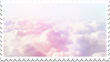 pastel clouds stamp
