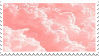 pink clouds stamp by sinnamonstamps
