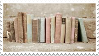 books stamp by sinnamonstamps