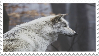 wolf stamp by sinnamonstamps